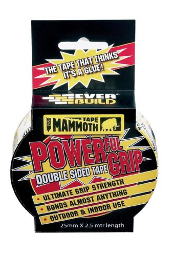 2.5M - Mammoth Powerful Grip Tape 12mm - Everbuild